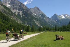 A family bike ride with amazing scenery. #edelweissresort