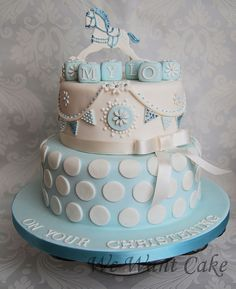 christening cake circles and bunting ideas