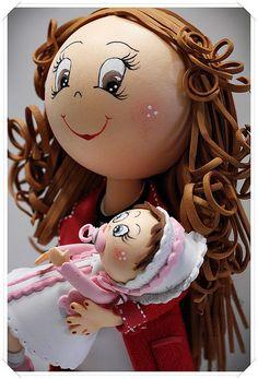 fofucha con un bebe