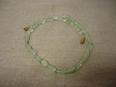 """Natural Light Green Aventurine,  Oval Smooth 17""""  Beads Necklace Gift #HandMade #Smooth"""