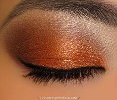 orange fall | Fall Orange and Brown Makeup Look #DashandAlbert10Year