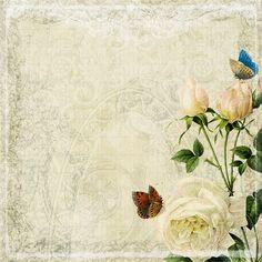 floral texture 2 by Etoile-du-nord on DeviantArt Decoupage Vintage, Papel Vintage, Vintage Diy, Vintage Cards, Vintage Paper, Vintage Images, Printable Scrapbook Paper, Printable Paper, Molduras Vintage
