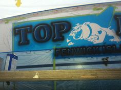 #TRANSOM: Top Dog, Fenwick Island #Boat #Transom #BoatTransom  TRANSOM #TECHNIQUE: #CustomGraphics    #BOAT #BUILDER #BoatBuilder: None