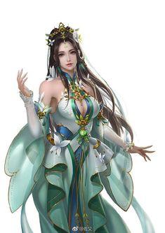 Character Portraits, Character Art, Athena Goddess, Fantasy Characters, Fictional Characters, Fantasy Artwork, Chinese Style, Chinese Art, Japanese Art