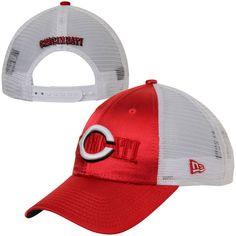 3ca9ca294d7 New Era Cincinnati Reds Women s Shine-Over Adjustable Hat - Red White
