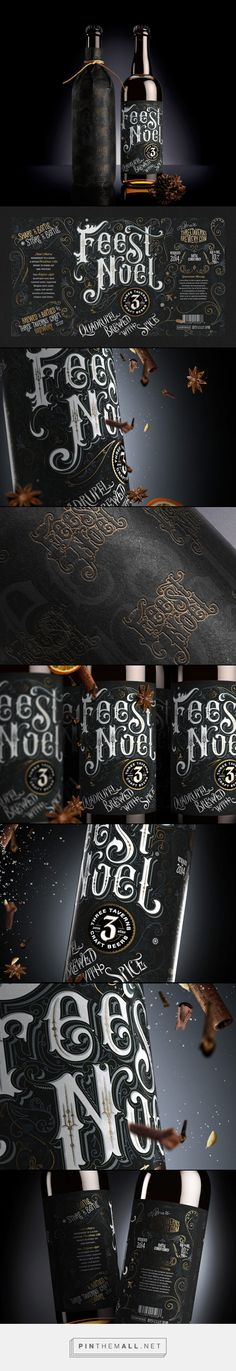 Feest Noel bottle #packaging and label design. I love the typography!