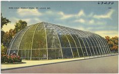 1904 World Fair Bird Cage, Forest Park, St. Louis, Mo. still standing in St. Louis Zoo
