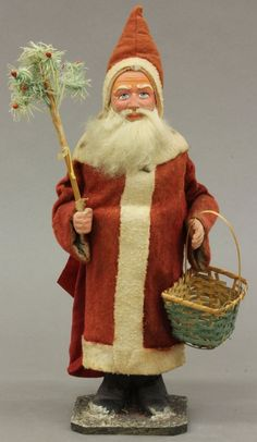 Vintage Santa Claus Candy Container Height- 15 1/2""