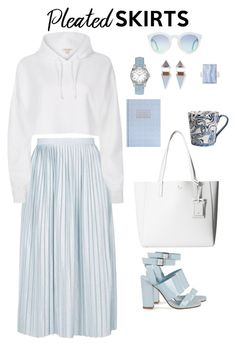 """""""Blueish"""" by ysendjaja on Polyvore featuring Topshop, River Island, Kate Spade, Wolf & Moon, GUESS, Henri Bendel, Simple Life and pleatedskirts"""