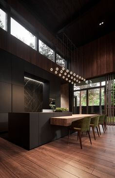 51 Luxury Kitchens And Tips To Help You Design And Accessorize Yours Best Kitchen Designs, Modern Kitchen Design, Modern House Design, Interior Design Kitchen, Kitchen Ideas, Bar Kitchen, Bar Interior, Kitchen Wood, Kitchen Cupboard