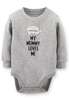 """Carter's® Halloween """"My Mummy Loves Me"""" Bodysuit #BelkStyle #Halloween"""