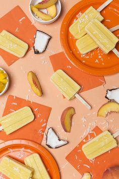 Peach mango coconut popsicle recipe by Trisha Zemp