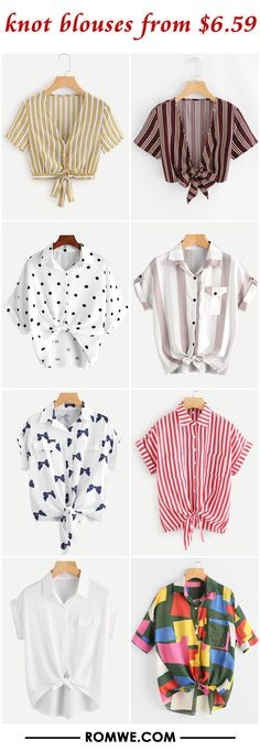 knot blouses from $6.59