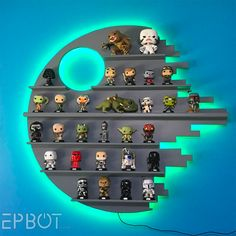 Make your own Star Wars Death Star Shelving for Funko POP!s - (credit to epbot.com)