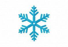 Glacial Snowflake Machine Embroidery Design several sizes