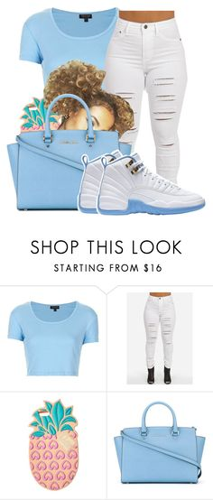 """""""Untitled #648"""" by sipping-gold ❤ liked on Polyvore featuring Topshop, Lolli Swim and MICHAEL Michael Kors"""