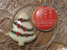 Christmas Tree and Ornament Sugar Cookies