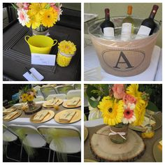 Bridal shower decorations rustic