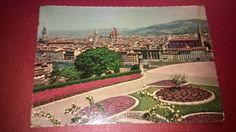 FIRENZE / FLORENCE View of the city ITALY  Old post card  UNPOSTED