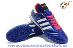 new york fc202 db8bb Chaud Chaussure de football adidas Copa Mundial Marine Blanc TF 2014 World  Cup