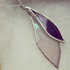 Handcrafted Purple and White Layered by LissieHoffertGlass, $40.00