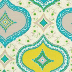 Dena Designs Kumari Garden Chandra Blue Fabric