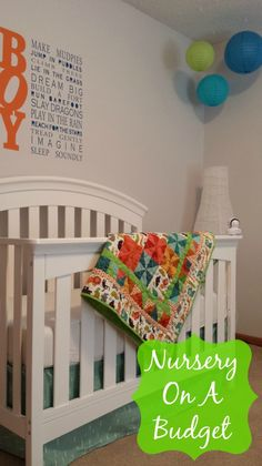 Baby's Nursery On A Budget- Great ideas and tips on how to make a fabulous nursery for baby for less!