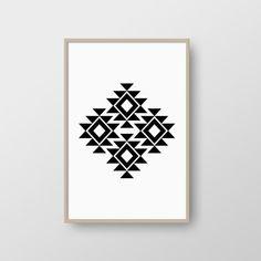Minimalist Aztec Print,  Scandinavian Print Tribal Print, Modern Nordic Poster, Minimalist Print Decor, Geometric Print, INSTANT DOWNLOAD
