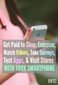 Breaking down the different types of smartphone apps that pay. Get paid to do everything from shopping to exercising with your smartphone. Making Money, Making Money Ideas, Making Money Online