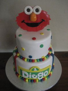 The Cake Bizzle: Diego's Elmo Party Cake