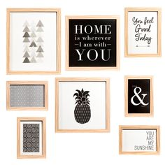 Home decoration - Gallery Wall Frames, Frames On Wall, Room Diys Tumblr, Diy And Crafts, Crafts For Kids, Cosy Room, Bedroom Decor, Wall Decor, Art Deco Design