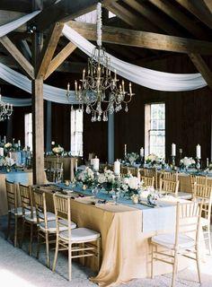 Hadas Cohen Wedding Dresses Styled with Oceanic Blue Ideas - wedding reception idea;