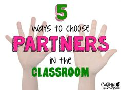 Lots of tips on how to partner students up!