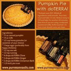 Pumpkin Pie with doTERRA