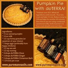 Pumpkin Pie with doTERRA