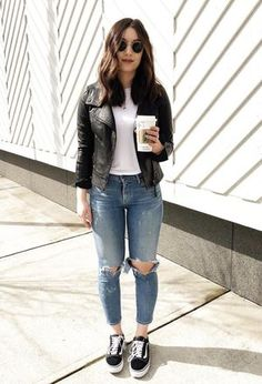 Mode Discoverbella by dudaf on Chicisimo What Is Autism? Basic Outfits, Mode Outfits, Jean Outfits, Fall Outfits, Casual Outfits, Fashion Outfits, Black Vans Outfit, Tennis Shoes Outfit, Outfit Jeans
