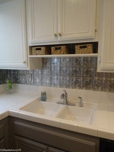 Nice Kitchen Remodel. I Really Like The Backsplash, Basket Shelf, And Rug  That · Backsplash IdeasTin Tile ...