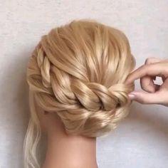 Bun Hairstyles For Long Hair, Braids For Long Hair, Braided Hairstyles, Long Hair Dos, Hair Style Vedio, Hair Upstyles, Front Hair Styles, Hair Videos, Hair Hacks