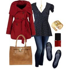 """Navy & Red - Plus Size"" by alexawebb on Polyvore"