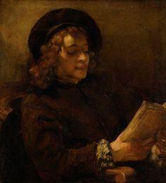 Rembrandt. Portrait of Titus Reading. 1656-57. Oil on canvas. Kunsthistorisches Museum, Vienna, Austria.
