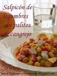 https://flic.kr/p/tEDKSo | Salpicón de legumbres con palitos de cangrejo