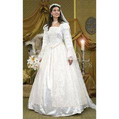 Renaissance Wedding Gown and Veil - 101046 by Medieval Collectibles Love this dress. Perfect for a celtic wedding.