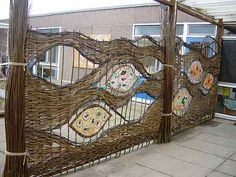 willow fence with gaps