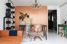Great combination of classic & contemporary. Eclectic Dining Room by Louise de Miranda