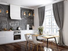 Amazing Home design is actually really great because it use a Amazing theme where it can make our Home looks great. Check the latest Amazing Home design by reading (Scandinavian Dining Room Style With Whimsical Wall Decoration) Contemporary Decor Living Room, Interior Design, Luxury Dining, Monochrome Interior, Luxury Dining Room, Monochrome Dining Room, Dining Room Small, Interior Wall Design, Scandinavian Dining Room