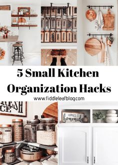 Small Kitchen Organization Hacks - Fiddle Leaf Interiors