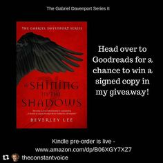 Regram from @theconstantvoice .  I'm so excited for this book!  I just finished the first in the series and over it!  Just entered the giveaway as well.  Fingers crossed!  ... #booknerd #books #booksarelife #booksaremagic #bookstagram #bookstagramcommunity #bookstagrammer #bookworm #currentlyreading #read #reader #goodreadsgiveaway #signedcopy #autographedcopy