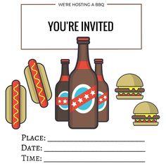 Free Printables   Printable BBQ Invites