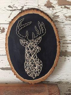 Cabeza ciervo cadena arte