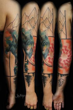 My tattoos are better than your tattoos #elephant tattoo #jayfreestyle #armsleeve
